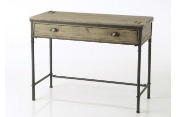 Bureau en bois et métal Agar