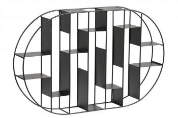 Étagère murale ovale en métal EMO