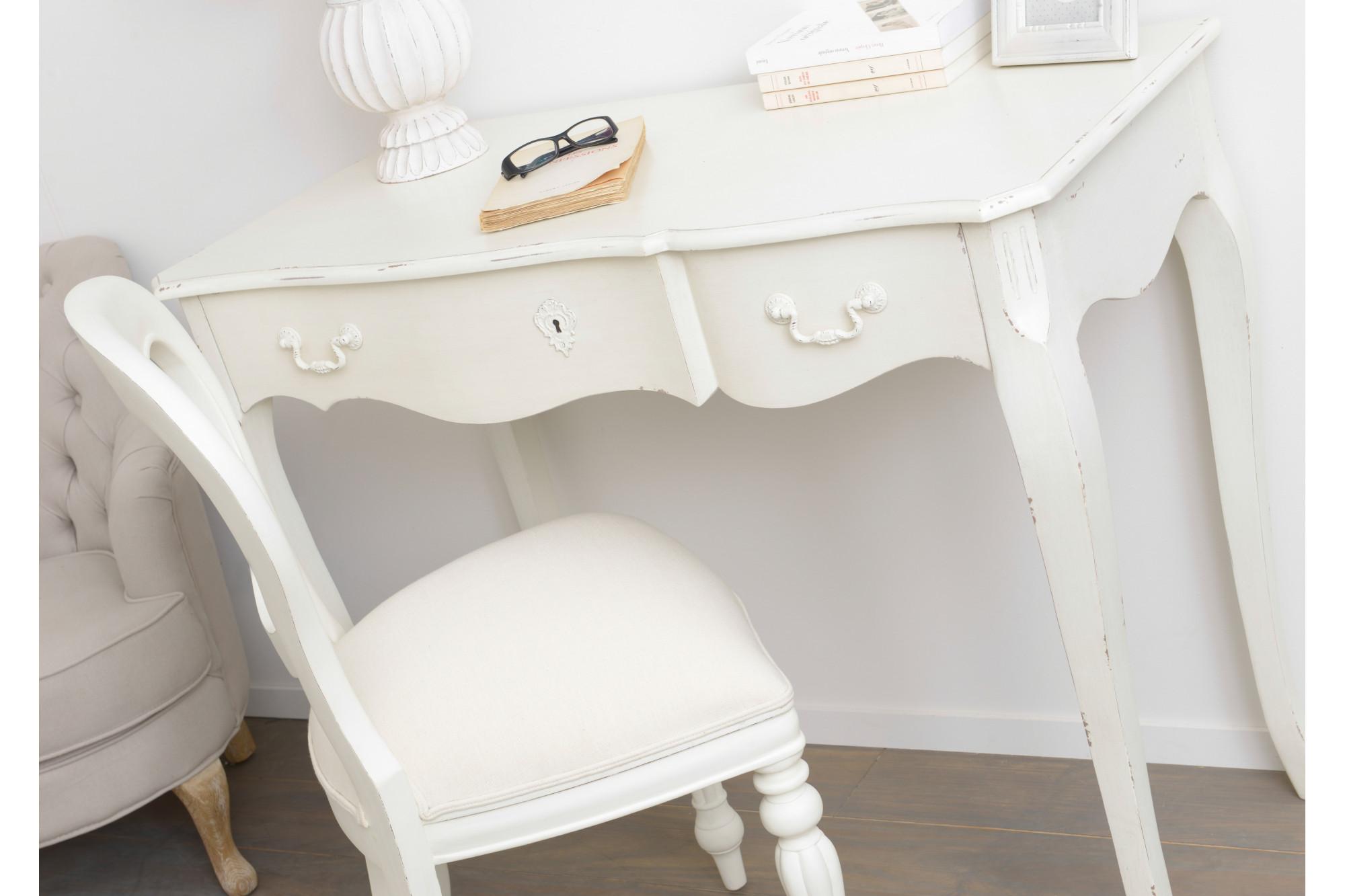 Bureau blanc 1 tiroir arpen hellin
