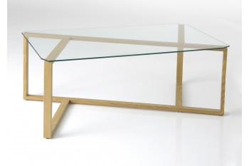 Table basse moderne, plateau en verre
