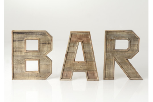 LOT 3 LETTRES BAR