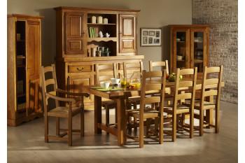 Table de Ferme en chene massif + 6 chaises LA BRESSE