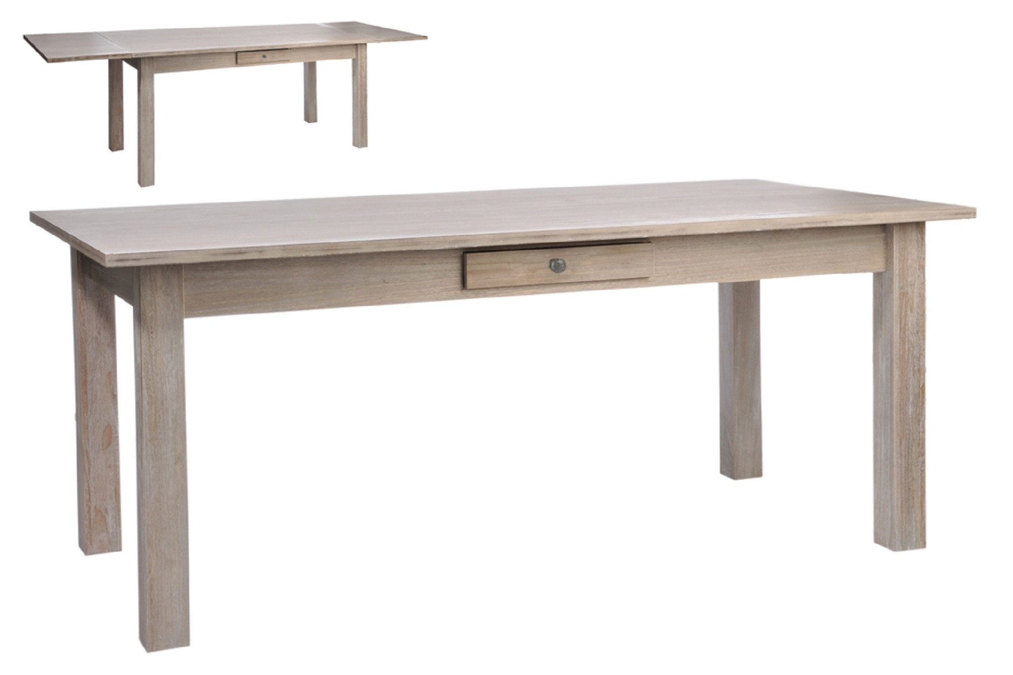 table rectangulaire extensible 2 rallonges escamotables