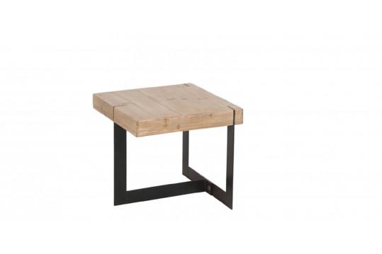 TABLE GIGOGNE CARRE MODERNE BOIS/METAL