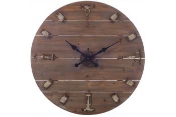 Horloge ronde en bois naturel