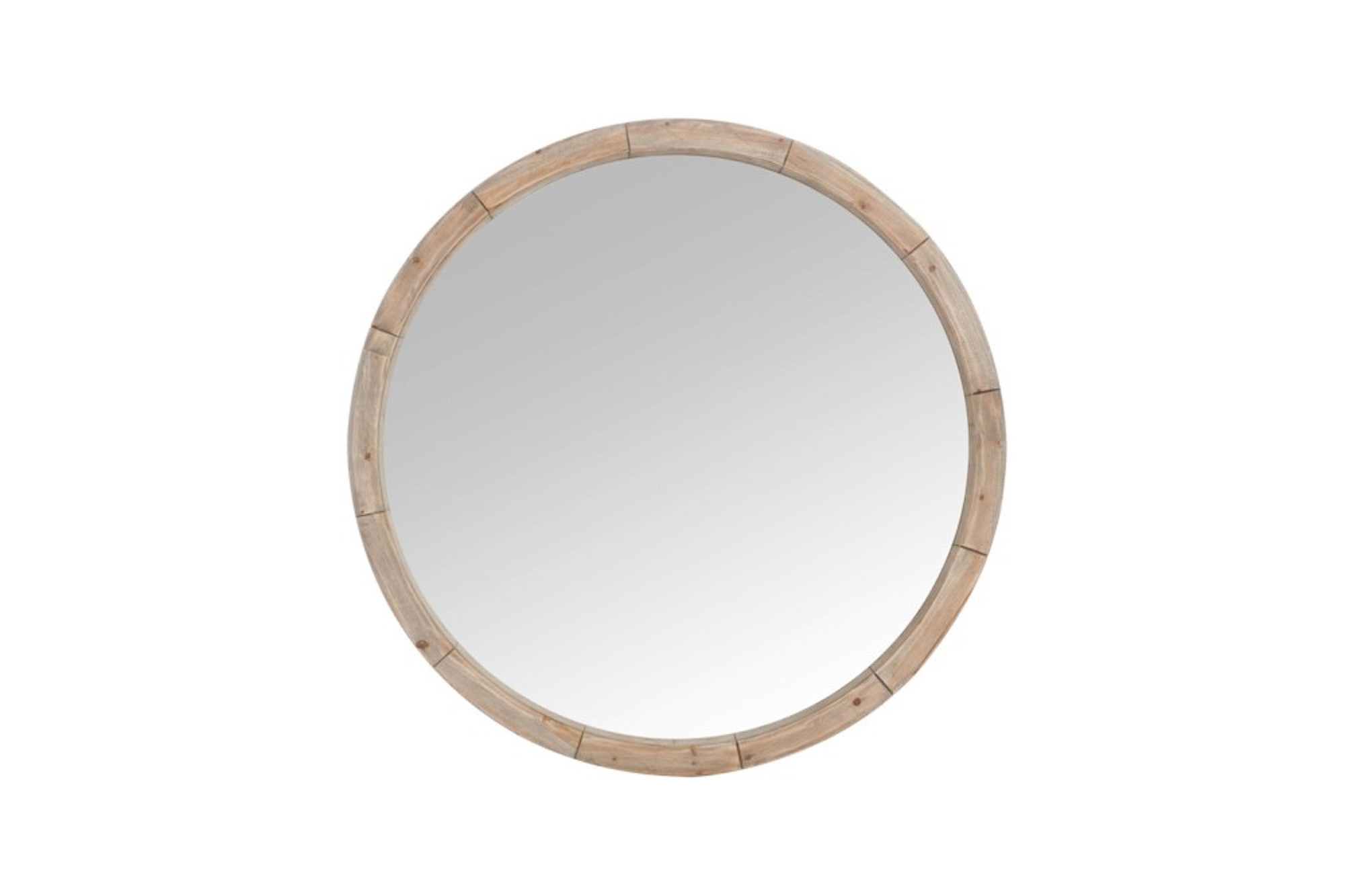 miroir rond cadre en bois naturel 122 cm hellin. Black Bedroom Furniture Sets. Home Design Ideas