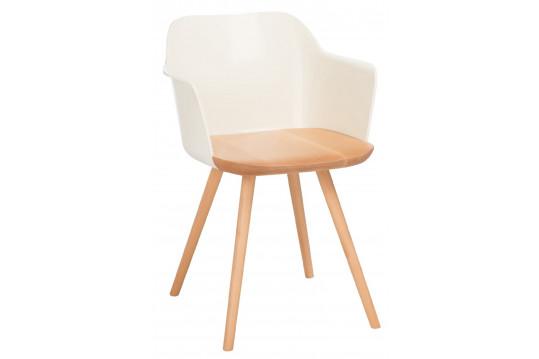Lot de 2 chaises en bois rétro INNA