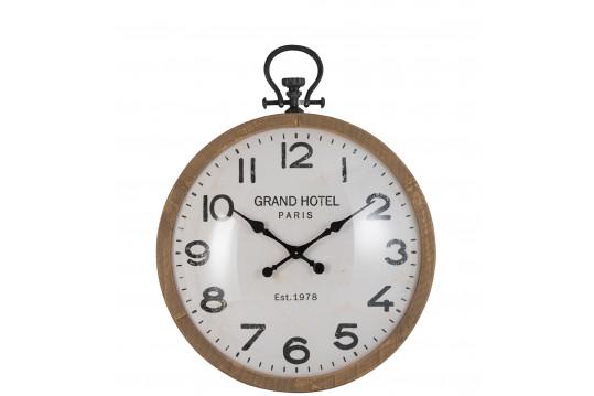 Grande horloge Gousset en bois et verre