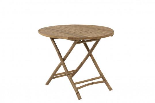 Table de jardin en bambou