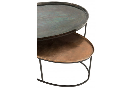 TABLE BASSE GIGOGNE EN METAL - ARTEN