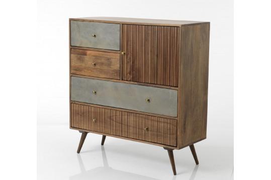 Buffet moderne en bois 4 tiroirs / 1 portes