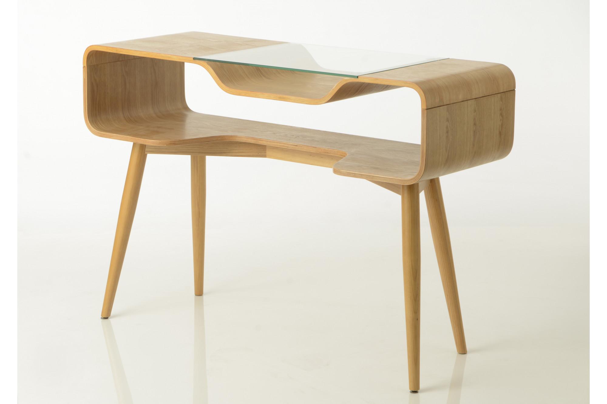 Bureau moderne en bois et verre au design nordique hellin
