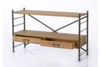 console modulable en m tal et bois hellin. Black Bedroom Furniture Sets. Home Design Ideas