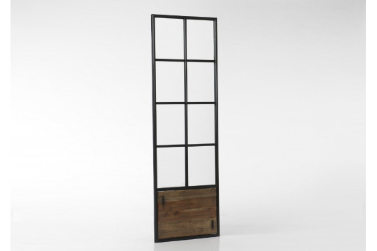Miroir bois et métal allure porte - 190 cm - Agar
