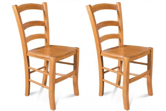 Chaises bois - assise bois-  TINA (Lot de 2)