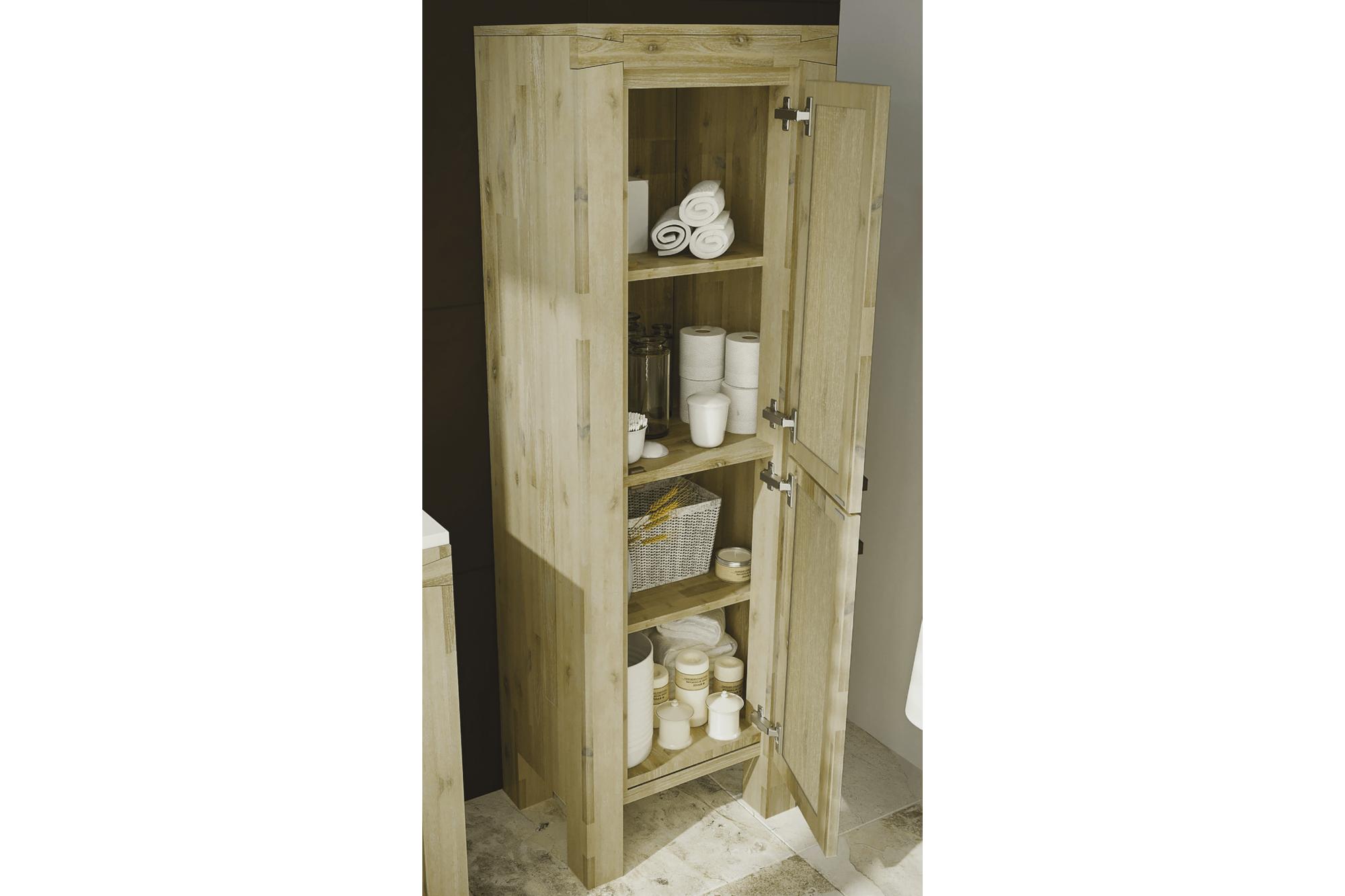 Colonne de salle de bain en bois, 15 cm - Hellin