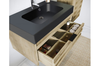 Meuble Simple Vasque A Suspendre Acacia Benoa Hellin