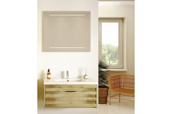 Meuble de salle de bain en bois massif et sa vasque - 80 cm - BENOA