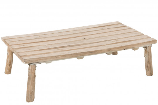 TABLE BASSE CHENE MASSIF NATUREL - AUPURE