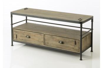 Meuble TV en bois et métal - Agar