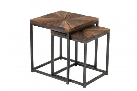 Bouts de canapé gigogne en bois et métal - SHINE
