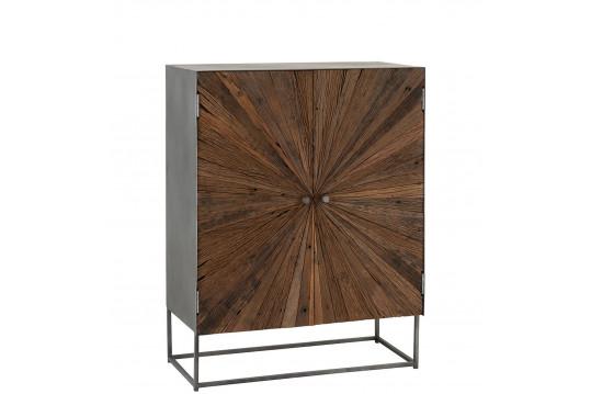 Armoire  2 portes en bois et métal - SHINE