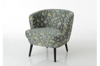 fauteuil lounge en tissu et bois - FLORA