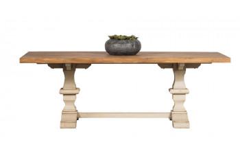 Table rectangulaire en bois piétement d'Abbaye - Capucine