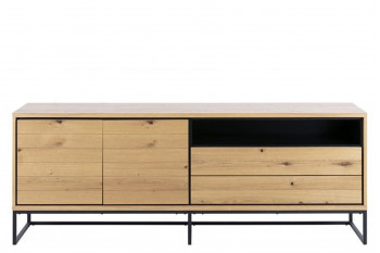 Buffet 2 portes 2 tiroirs en bois - LANA