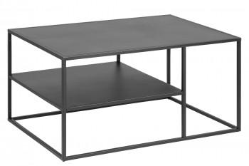 Table basse métal noir 2 niveaux - NEWTON