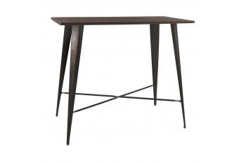 Table bar en en bois et métal - LITO