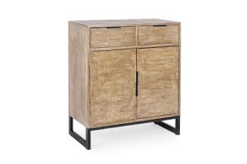 Buffet en bois et métal 2 portes - 2 tiroirs ARDEN