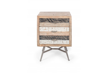 Chevet en bois et métal 3 tiroirs - leiston