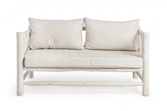 Canapé 2 places en teck - SAYELL