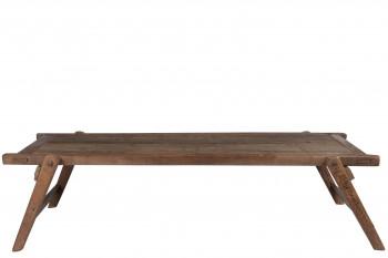 Table basse brut en bois massif recyclé