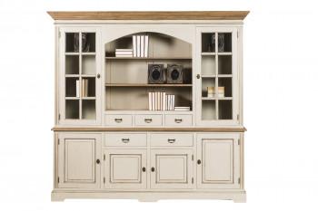 Vaisselier 4 portes et 2 portes vitrées en bois - Capucine