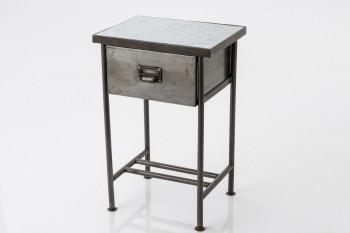 Chevet atelier en métal gris ROUBAIX