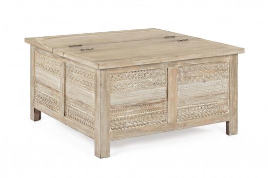 Table basse carrée coffre - MAYA