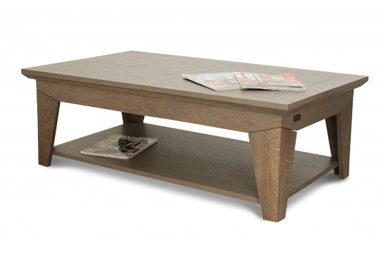 Table basse design FABRIC - Chene poivre