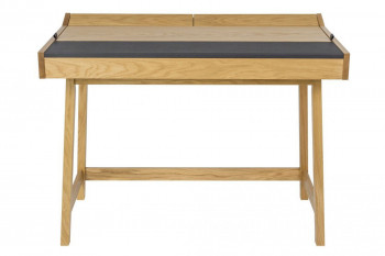 Bureau en bois et cuir - HARVARD