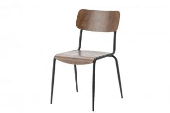 Chaise d'école vintage NICOLAS (lot de 2)