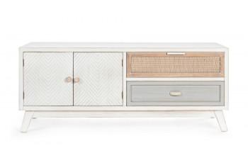 OCCASION Meuble TV en bois 2 portes -2 tiroirs BAYA