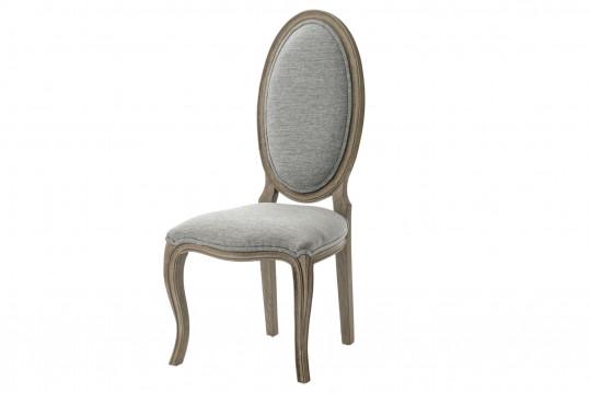Chaise de style en tissu et bois ovale (lot de 2) ROMANCE