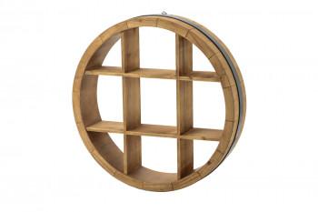 Étagère murale ronde en bois WALLY