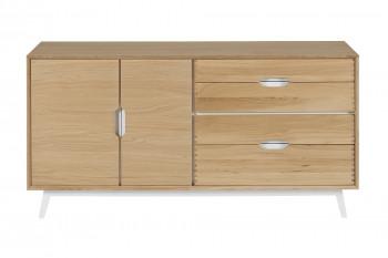 Buffet nordique en bois 2 portes + 4 tiroirs JOYCE