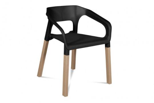 Occasion Lot de 2 chaises moderne KRAFT - Coloris noir
