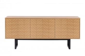 Buffet bas moderne en bois 3 portes - KALMAR