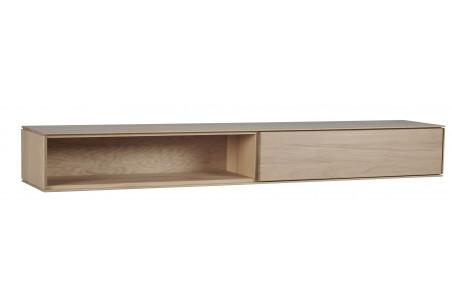 étagère suspendue en bois massif finition naturelle collection Filigrame
