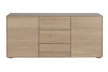 buffet en bois a la finition naturelle collection Filigrame