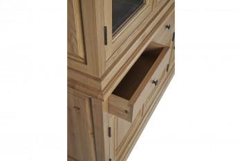 tiroir ouvert du vaisselier en bois massif Victoria